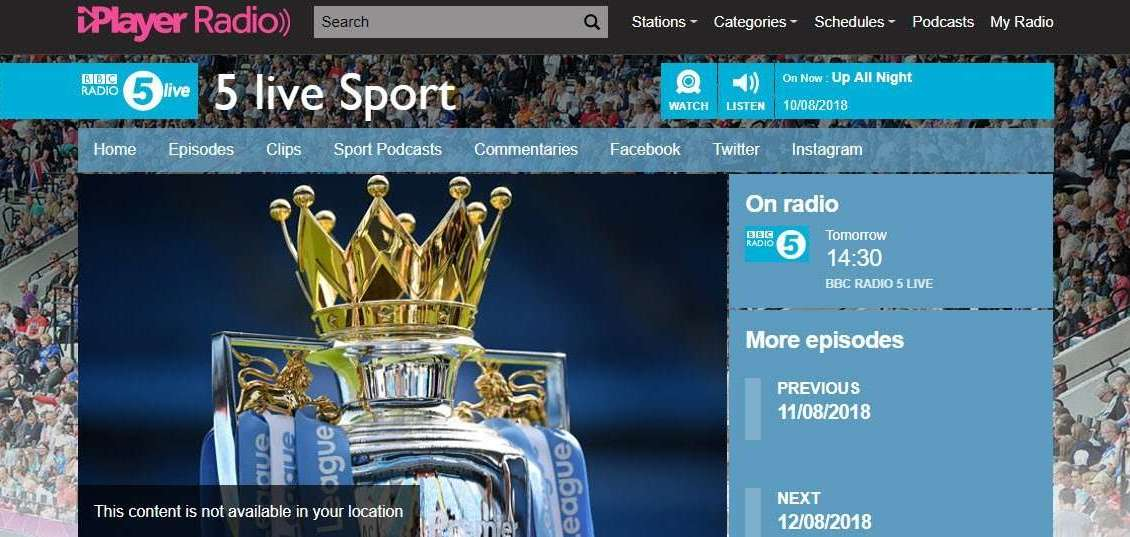 How to listen to BBC 5 Live abroad