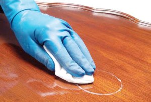 Stain removing process