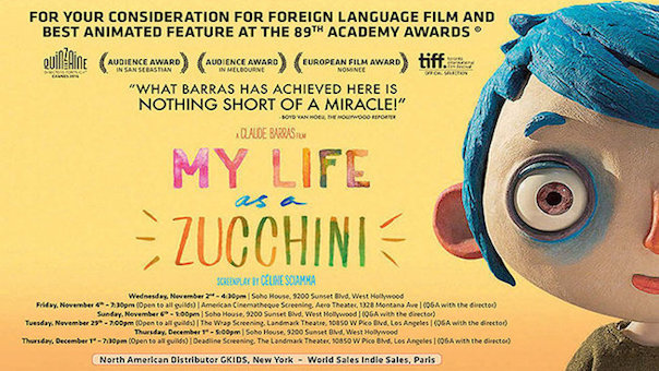Image result for My Life as a Zucchini - poster