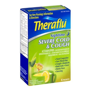 Theraflu Nighttime Severe Honey Lemon Flavor Cold & Cough ...