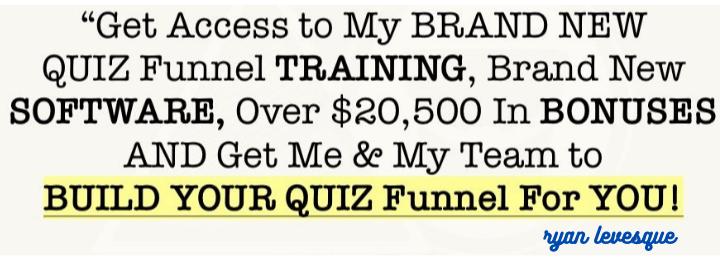 ryan levesque Quiz Funnel Masterclass