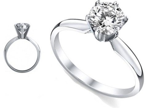 2.75 Ct. Diamond Engagement Ring with Round Diamond Solitaire