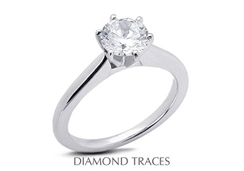 Review 6.34 Carat Round Natural Diamond Solitaire Engagement Ring