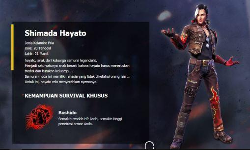 Kapan Hayato free fire pertama kali di Rilis
