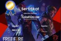 contoh e-sertifikat ff keren by reviewtekno.com