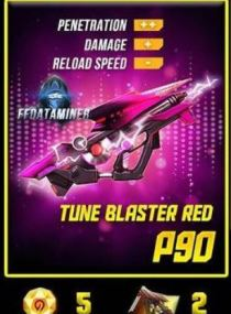Skin FF P90 Tune Blaster Red