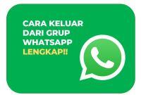 menghapus grup whatsapp dengan mudah