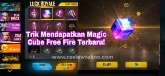 Trik Mendapatkan Magic Cube di Diamond Royal