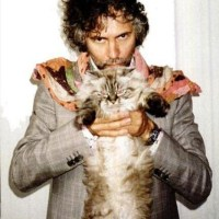 Wayne Coyne With a Cat