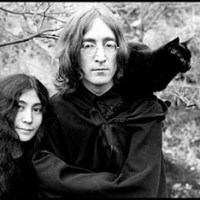 John And Yoko With A Cat