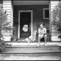 Ian Mackaye With A Dog