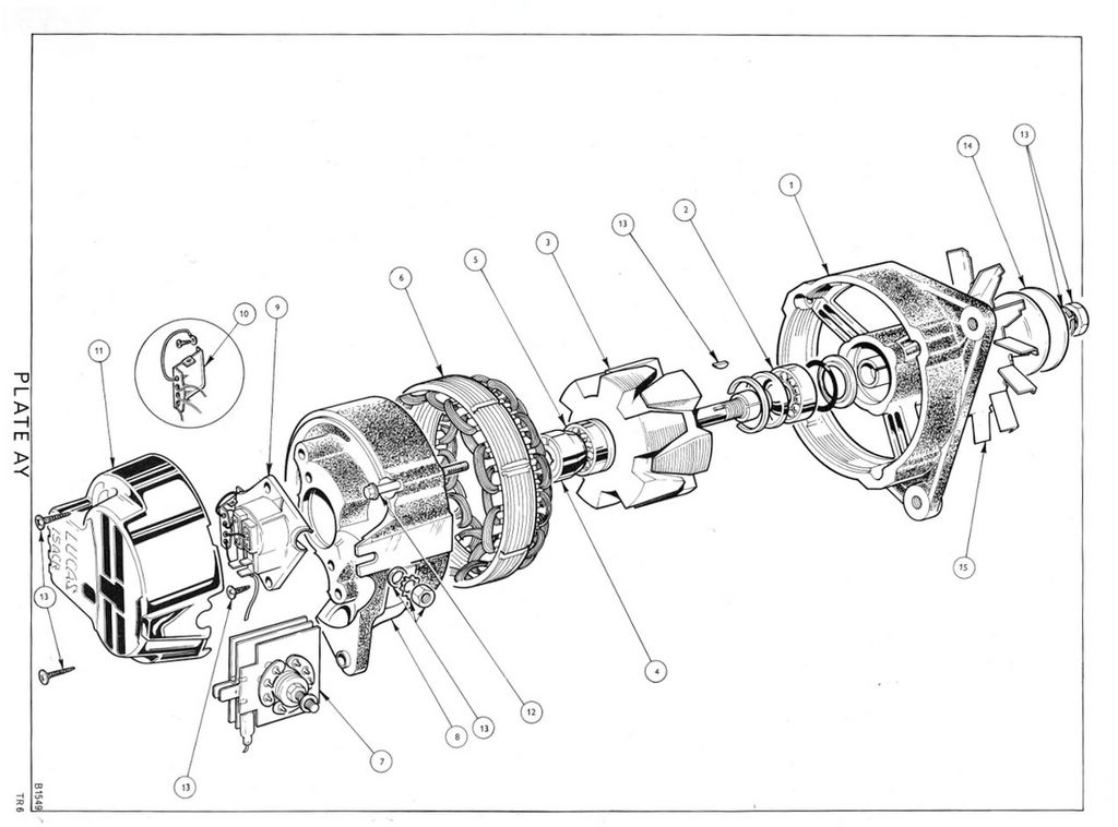 TR6CPCC ELECTRICAL EQUIPMENT: Alternator