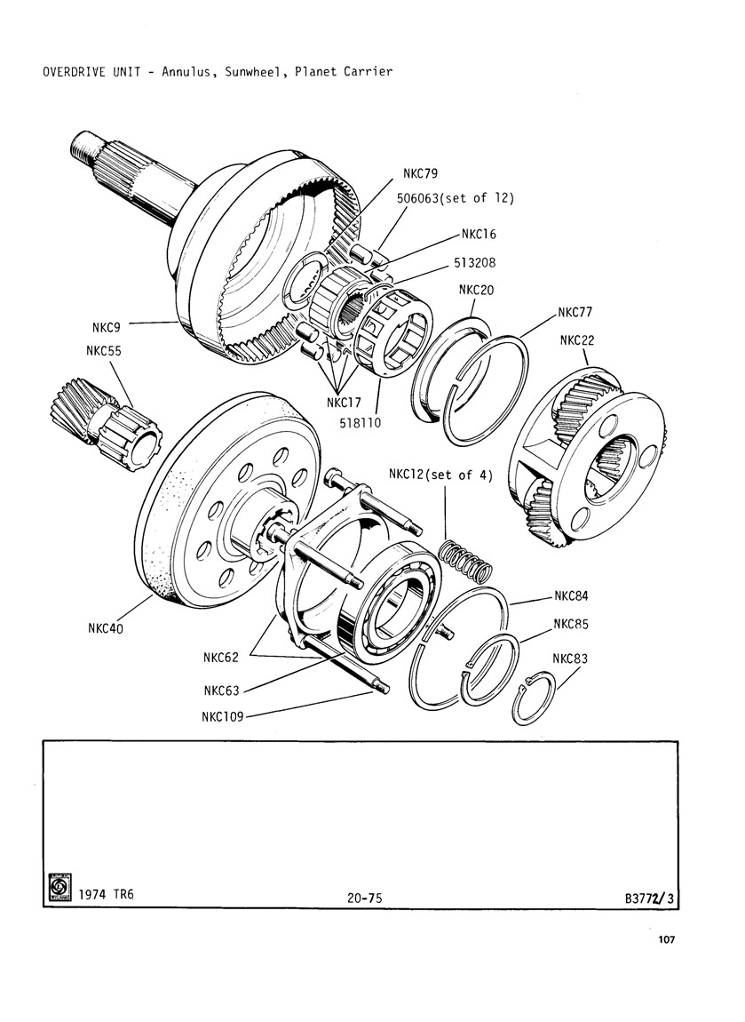 hight resolution of  tr6 wheels revington tr tr6cf plate 20 75 j type overdrive unit for