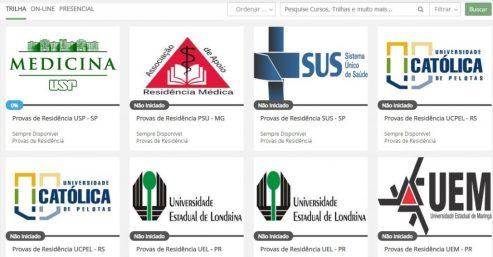 Capas de provas das principais instituições do país