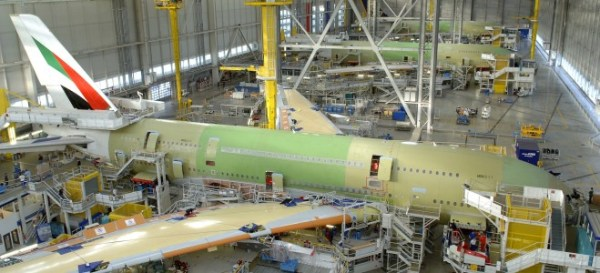 Airbus 380 being assembled