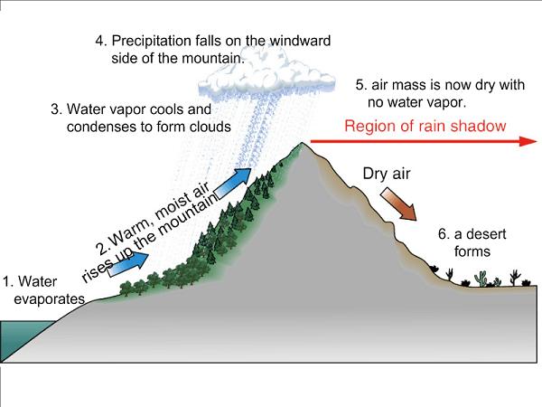 The Rain-shadow Effect