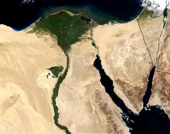 A satellite photo of the Nile Delta. Image credit Flckr.com