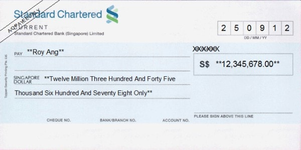 A crossed cheque. Image credit freechequewriter.com