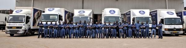 A fleet of bakery trucks owned by Innscor Africa. Image credit innscorafrica.com