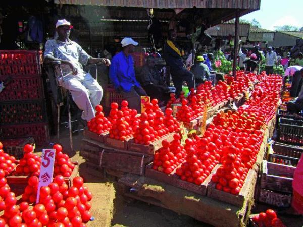 Small scale traders at Mbare Musika. Image credit skyscapercity.com