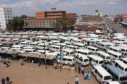 Esighodhini Bus Stop. Image credit zimbabwefocus.com