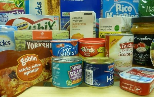 Tin plating is used in making food cans. Image credit alsagerfoodbank.org.uk