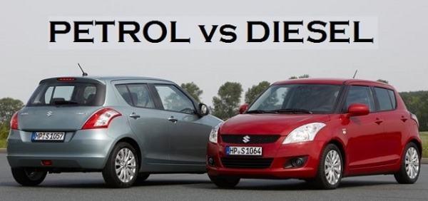 Petrol vs Diesel Engines. Image credit carblogindia.com