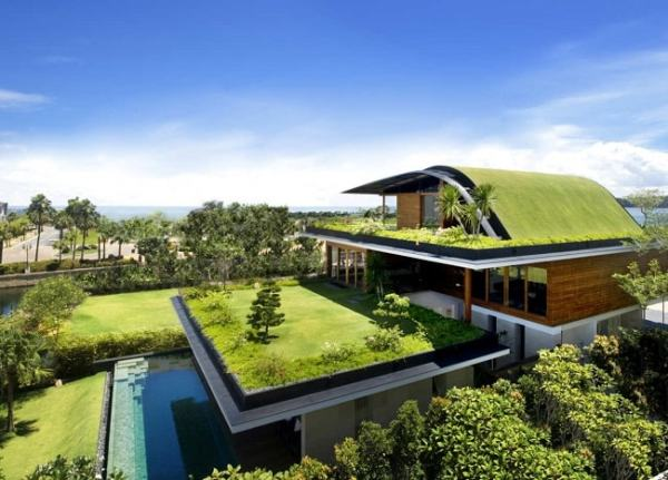 A house built using Eco friendly materials. Image credit asiagreenbuildings.com