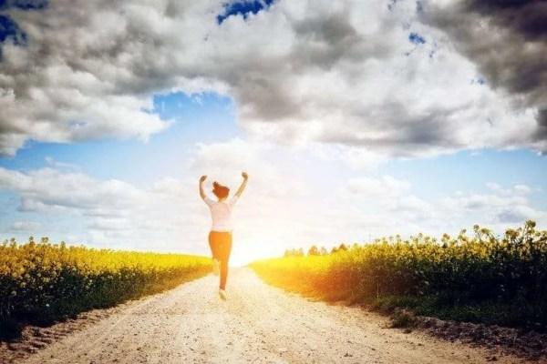 running into sun