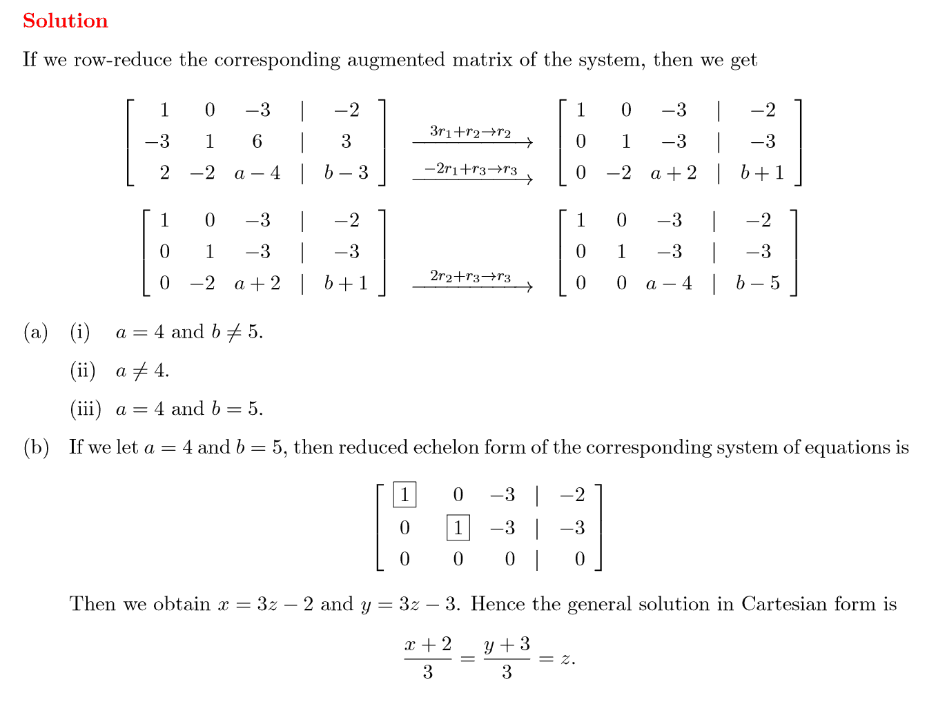 Exam Questions On System Of Linear Equations