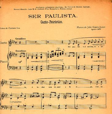 Canto Patriotico Ser Paulista