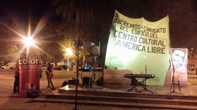 """Cierre del Festival """"Todos por el comodato del América"""", realizado en la Plaza Rocha."""