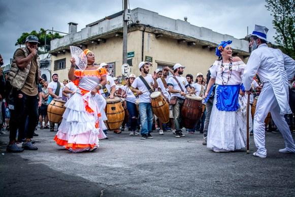 Calle Carlos Gardel. Símbolo del Candombe y del toque Cuareim. Las llamadas más tradicionales de Montevideo se extienden desde Carlos Gardel hasta su continuación, la calle Isla de Flores.