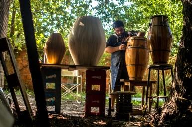 Gabriel Silva. Tocador de Manoahi y primer Luthier de tambores de Candombe en la ciudad. Ya fabricó más de 36 tambores.