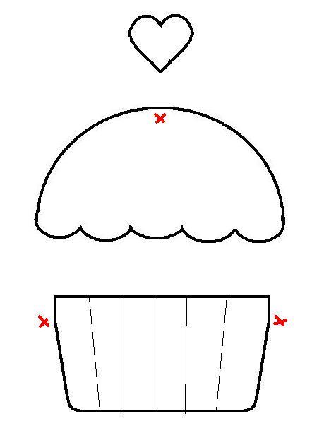 molde cupcake : Revista Artesanato