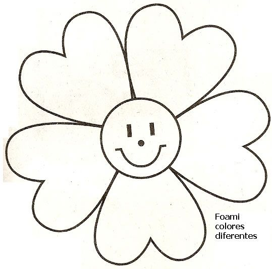 molde flor feliz : Revista Artesanato