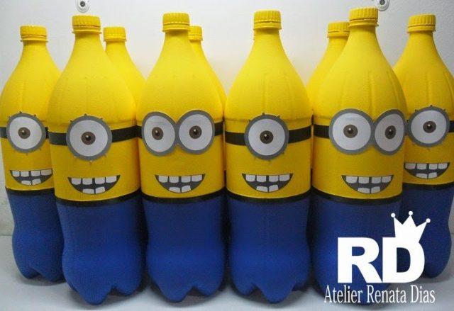 garrafa pet decorada Minions
