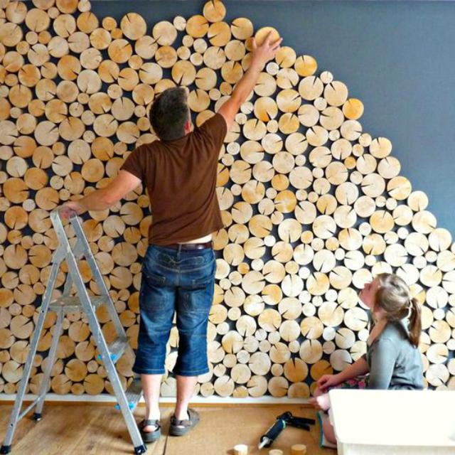 lambrisering van boomstammen
