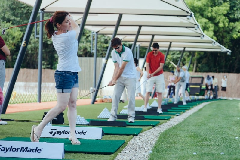 Training golf driving range_lansare Stejarii Country Club