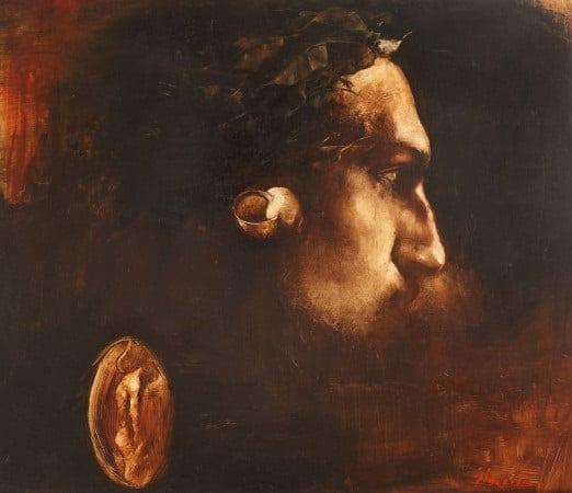 Adrian Ghenie, Self-portrait with Laurels