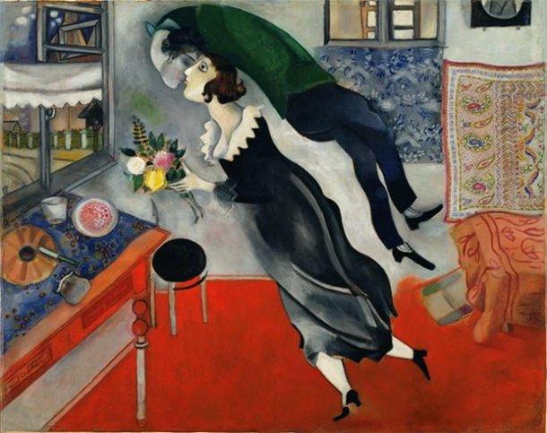 O Aniversário (1915), de Marc Chagall
