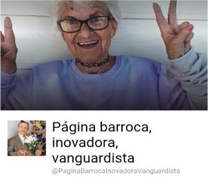 Página barroca, inovadora, vanguadista