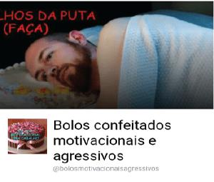 Bolos confeitados motivacionais e agressivos