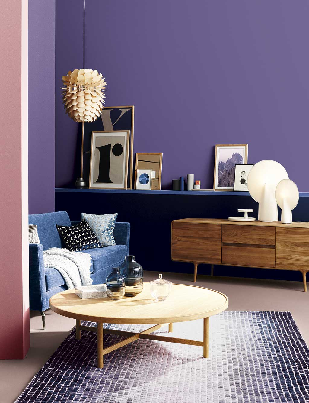 Colores para decorar 2018. Violetas.