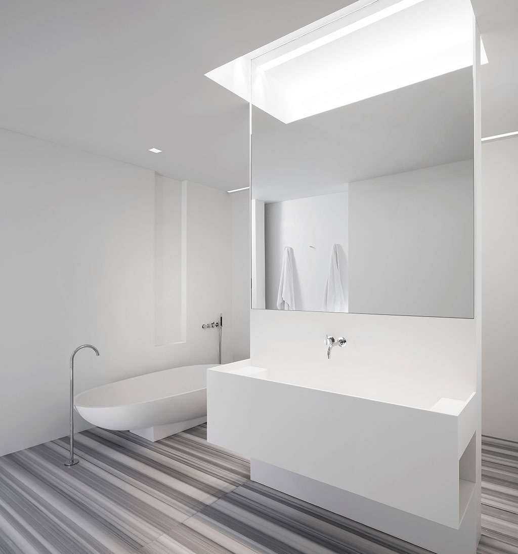 Diseño loft industrial baño