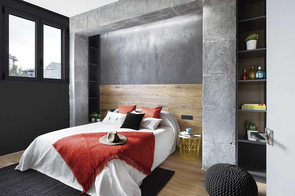 Decoración estilo americano. Dormitorio.