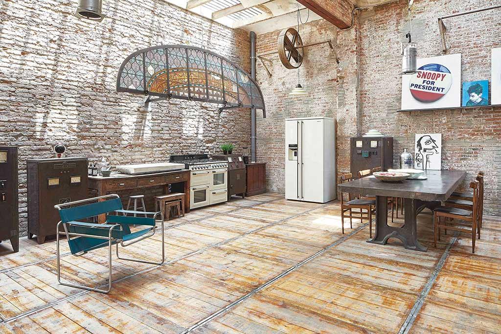 Loft industrial. Cocina.