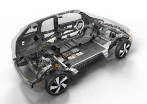 Estructura y disposición de las baterías en los bajos de un vehículo