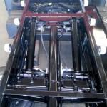 Sistema de cilindros hidráulicos de una plataforma portacoches