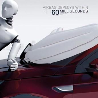 Sistema Airbag de peatón en Land Rover Sport